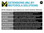 extensions mx by motorola solutions