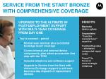 service from the start bronze with comprehensive coverage