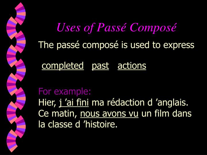 Uses of pass compos