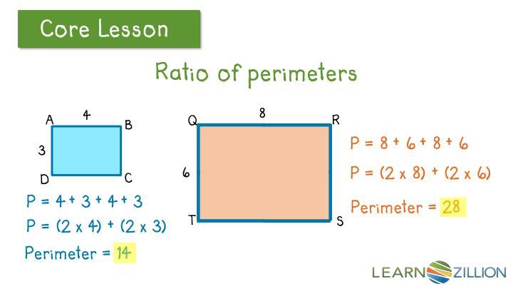 Ratio of perimeters