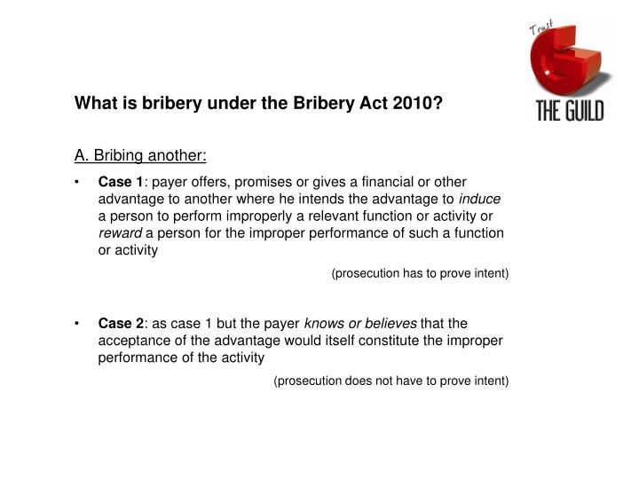 an essay bribery act 2010 The bribery act received royal assent in april this year and is due to come into force in april 2011 the act consolidates and modernises previous uk anti-corruption legislation applying to both public and private sectors in the uk.