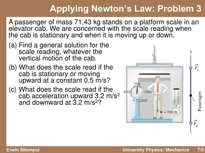 Applying Newton's Law: Problem 3