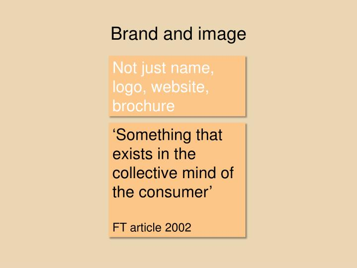 Brand and image
