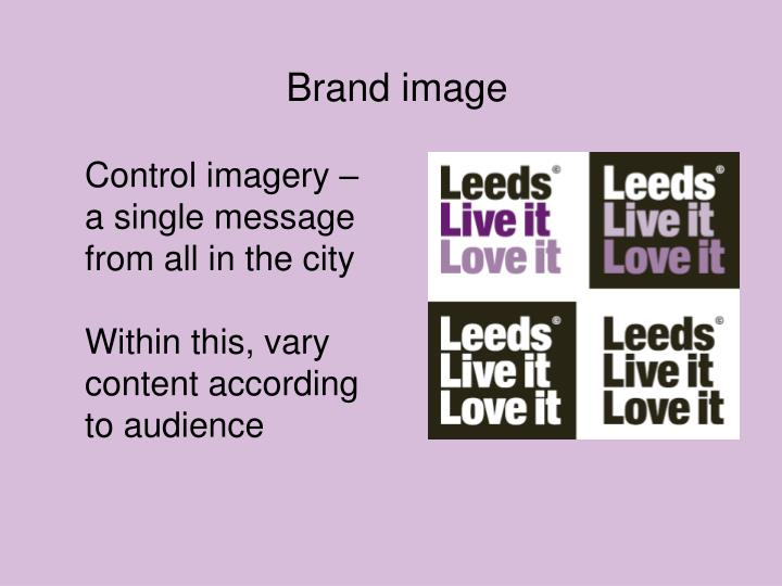 Control imagery – a single message from all in the city