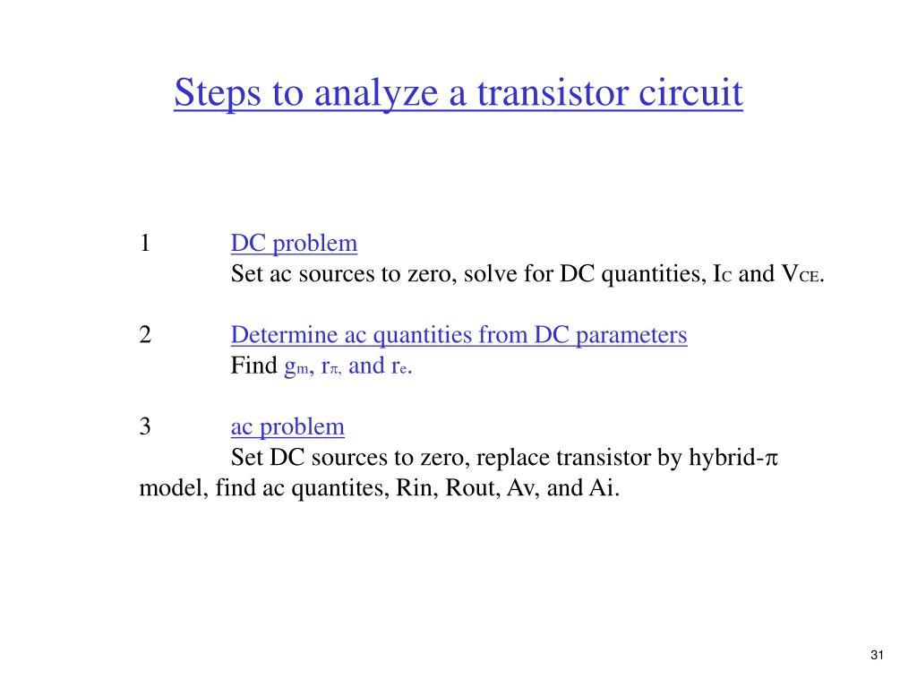 PPT - Chap  4 BJT transistors PowerPoint Presentation - ID