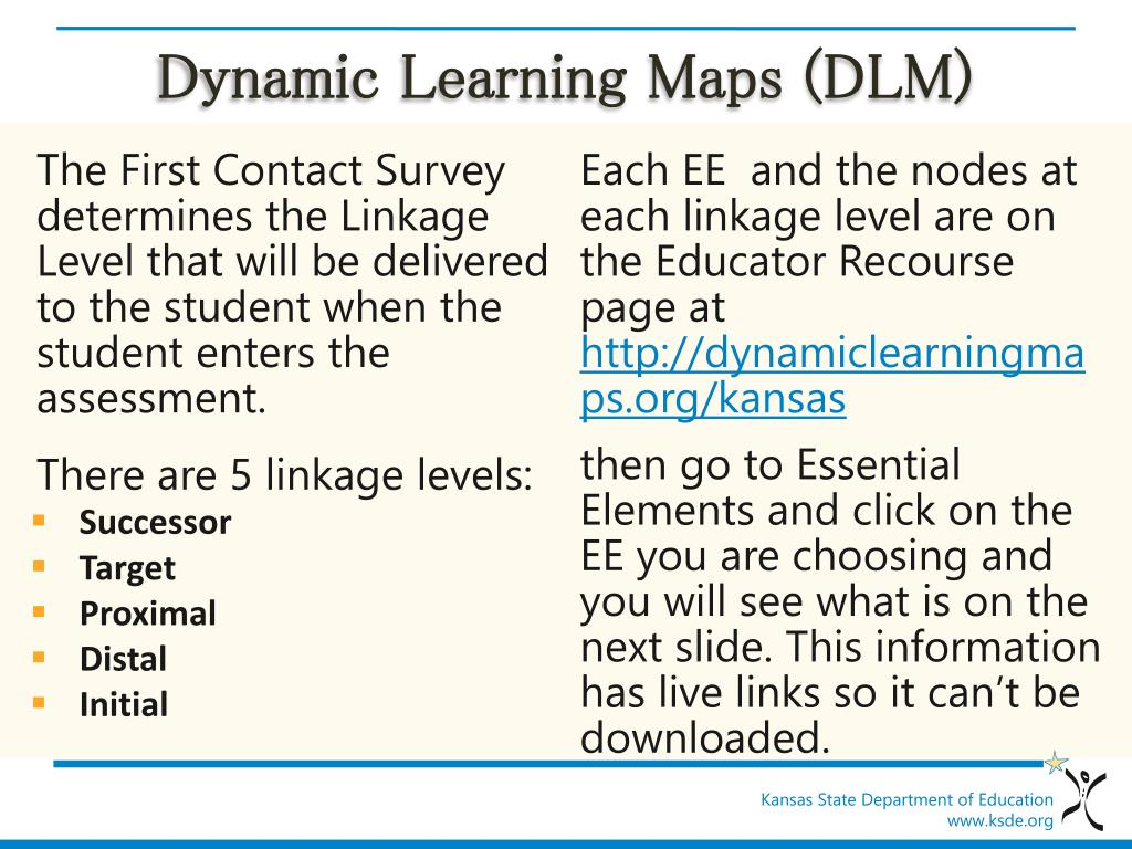 PPT - Dynamic Learning Maps (DLM) 2014-2015 PowerPoint Presentation Dynamic Learning Maps on