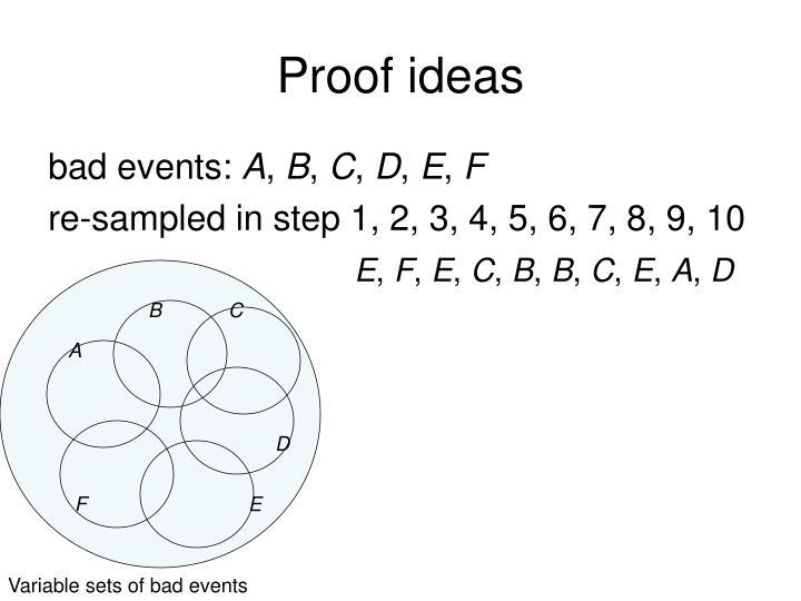 Proof ideas