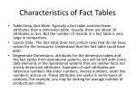 characteristics of fact tables1