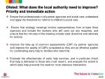 ofsted what does the local authority need to improve priority and immediate action