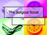 the surgical scrub