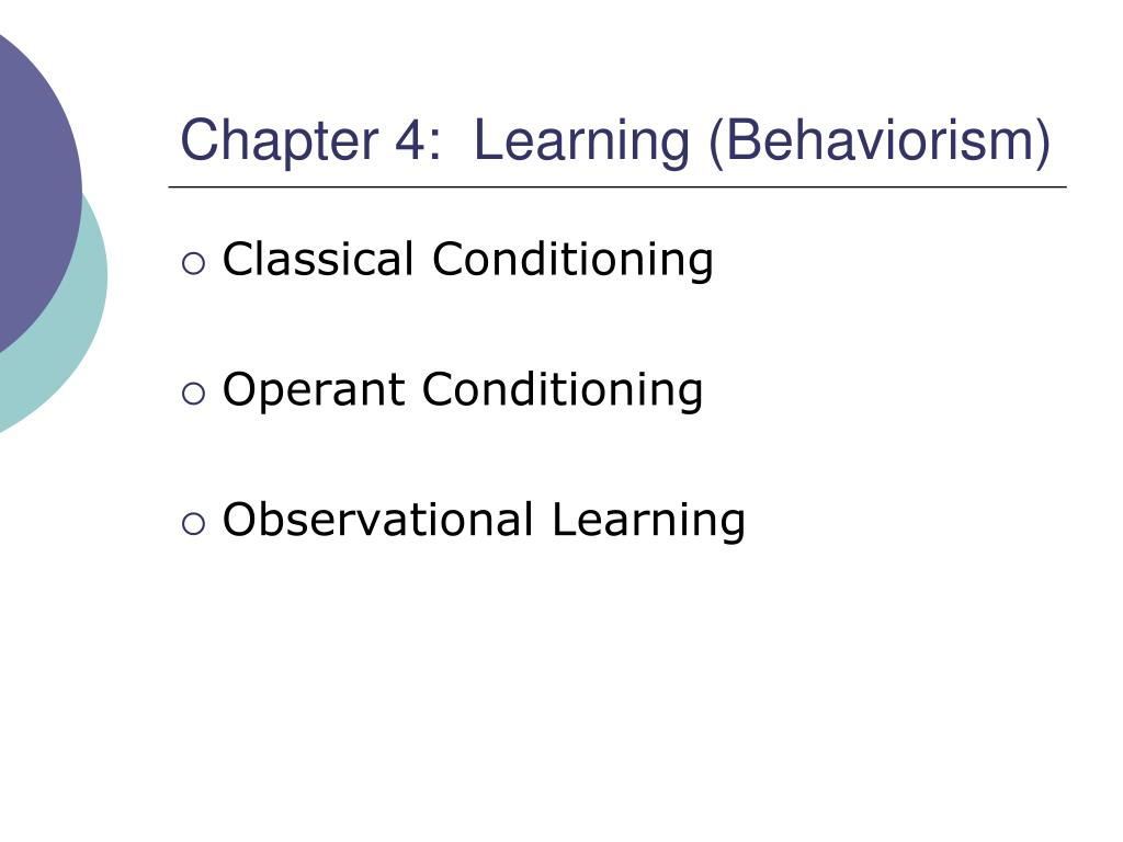 behaviorism operant conditioning
