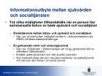 informationsutbyte mellan sjukv rden och socialtj nsten
