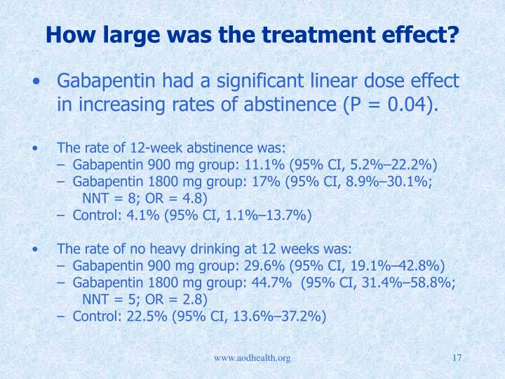 How large was the treatment effect?