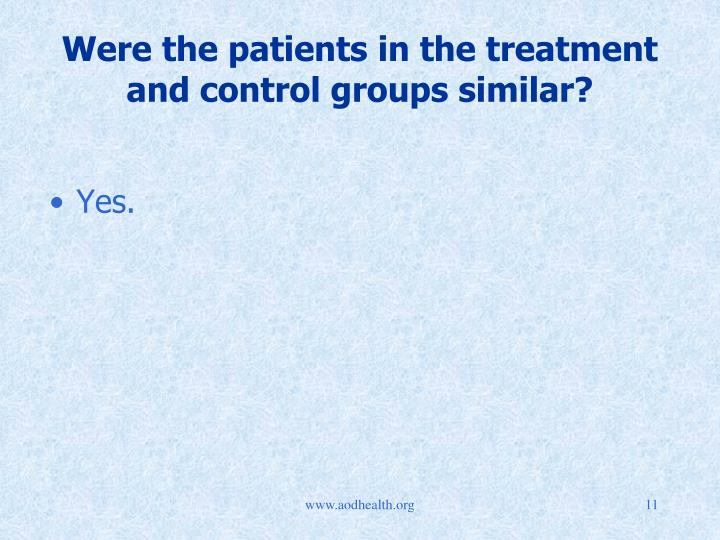 Were the patients in the treatment