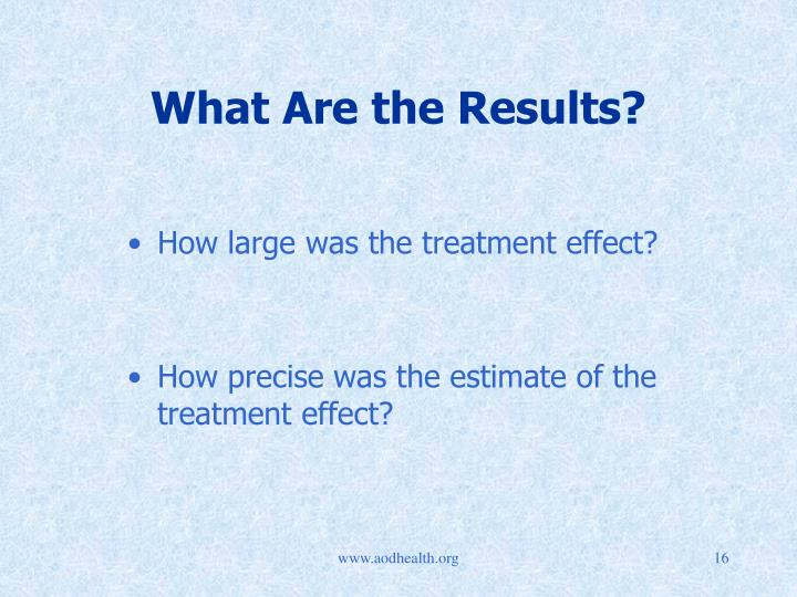 What Are the Results?