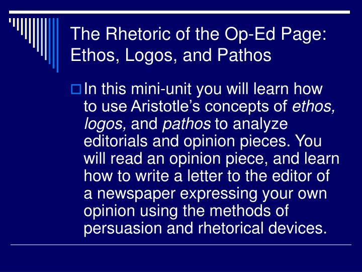 essays about lying using rhetorical devices ethos pathos logos