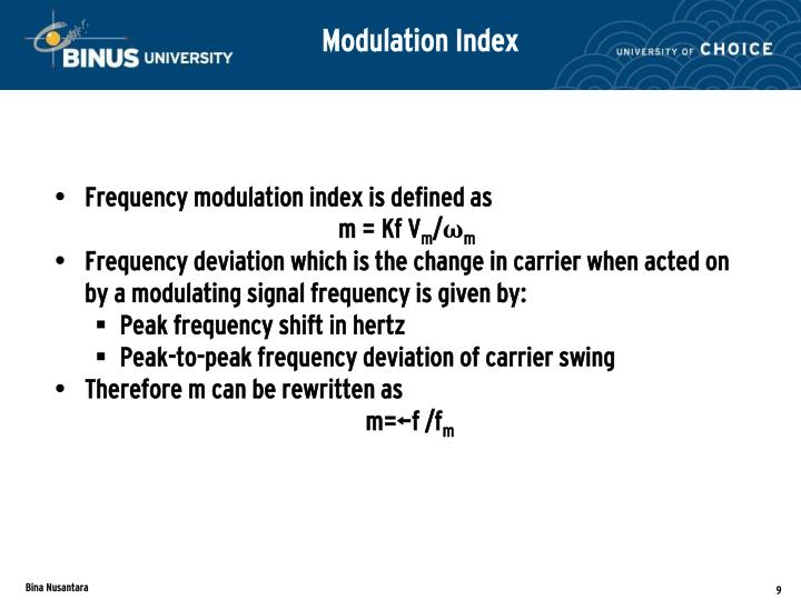 Modulation Index