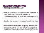 teacher s objectives