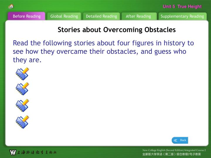 b r stories about overcoming obstacles1 n.