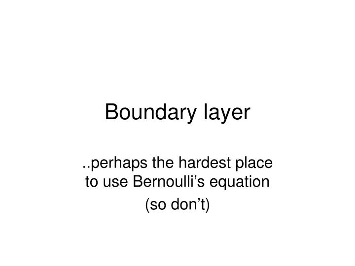 boundary layer n.