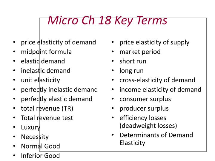 Ppt Micro Ch 18 Key Terms Powerpoint Presentation Free Download