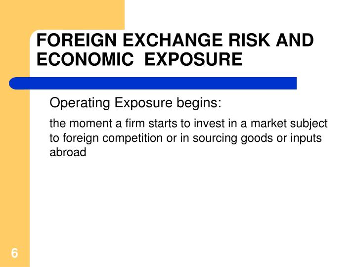 exchange risk When it comes to commodity trading, there are a myriad of risks this article deals with foreign exchange and geographical risk.