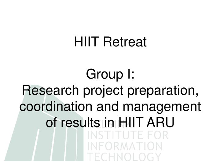 HIIT Retreat