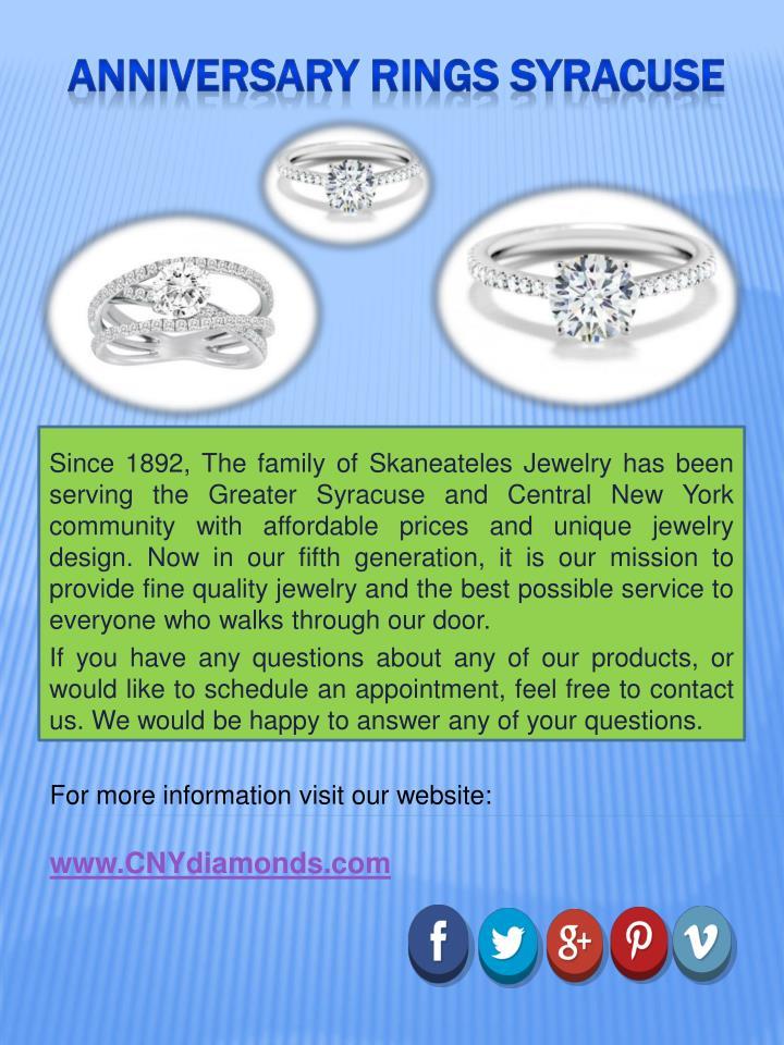 anniversary rings syracuse