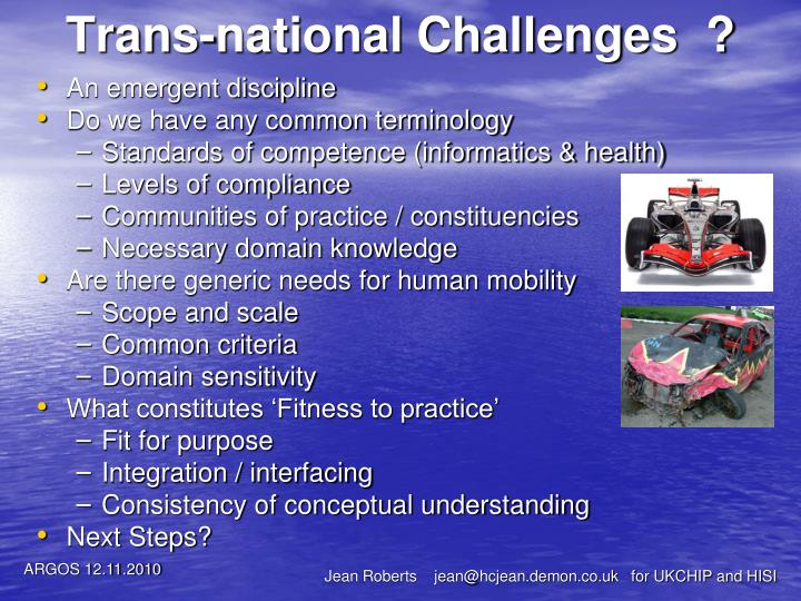 Trans-national Challenges  ?