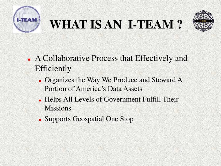 WHAT IS AN  I-TEAM ?