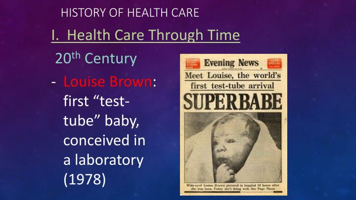 Ppt The History Of Health Care Powerpoint Presentation