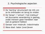 2 psychologische aspecten
