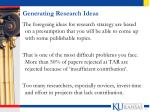 generating research ideas