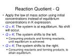 reaction quotient q