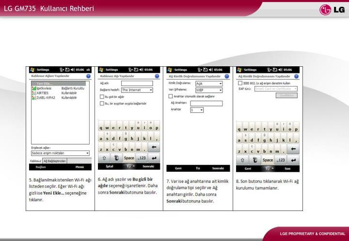 LG GM735  Kullanıcı Rehberi