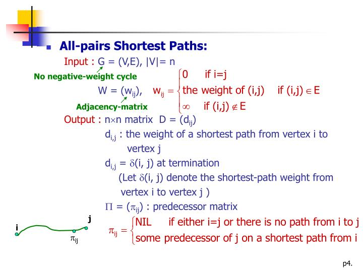 All-pairs Shortest Paths: