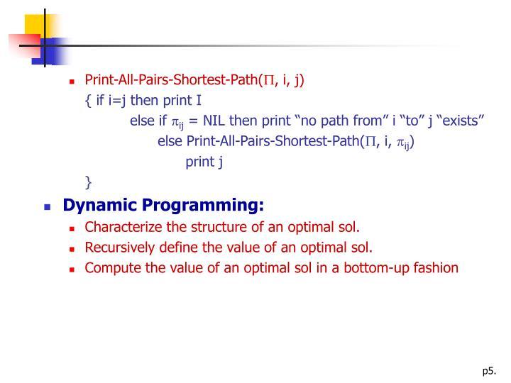 Print-All-Pairs-Shortest-Path(