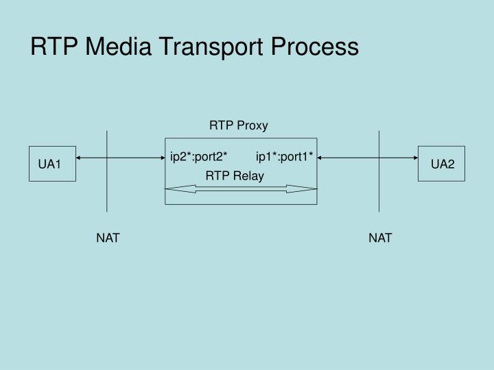 RTP Media Transport Process