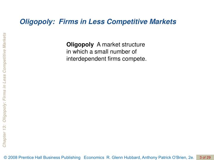 Oligopoly firms in less competitive markets