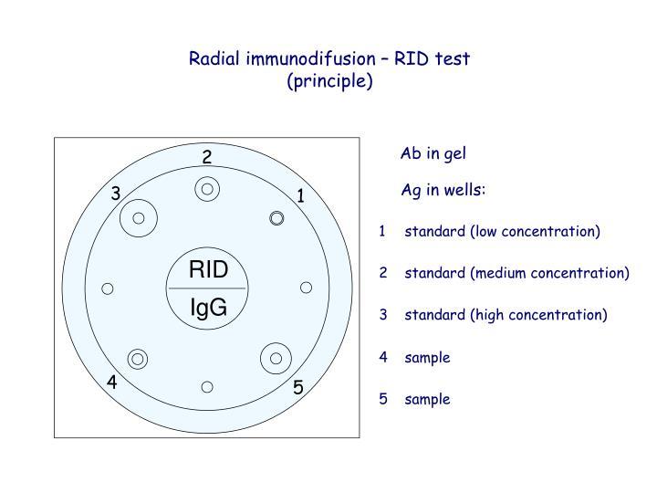 Radial immunodifusion – RID test