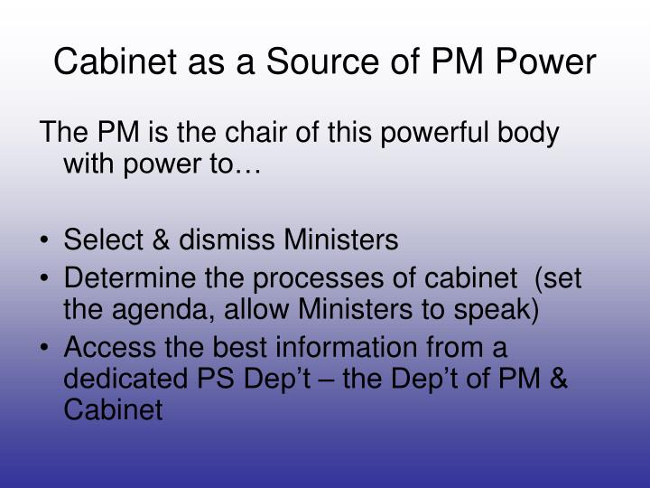 Cabinet as a Source of PM Power