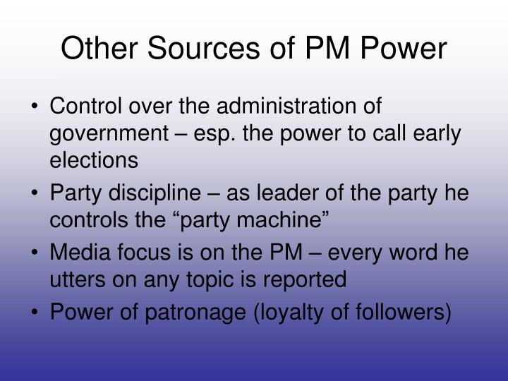 Other Sources of PM Power