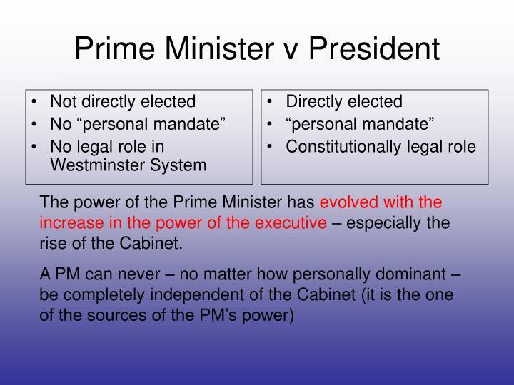Prime minister v president