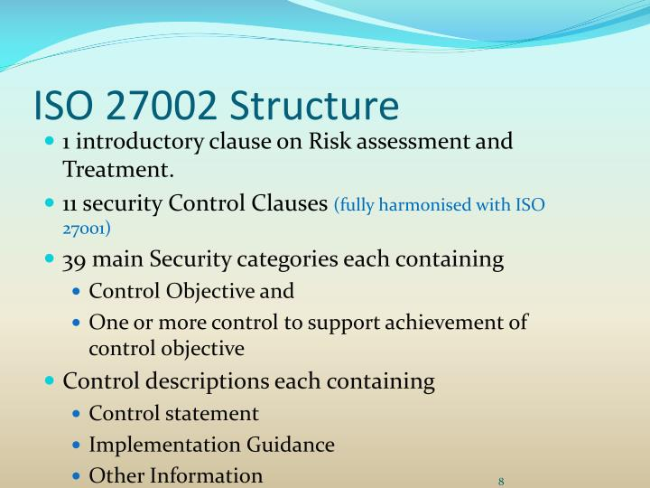 iso 27002 security controls framework