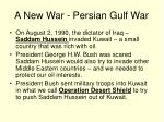 a new war persian gulf war