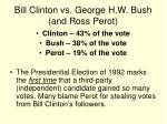 bill clinton vs george h w bush and ross perot