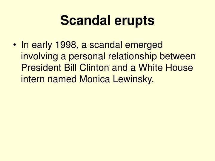 Scandal erupts