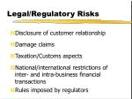legal regulatory risks