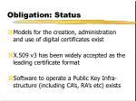 obligation status