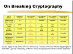 on breaking cryptography